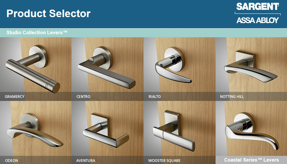 Sargent Studio Collection Product Selector