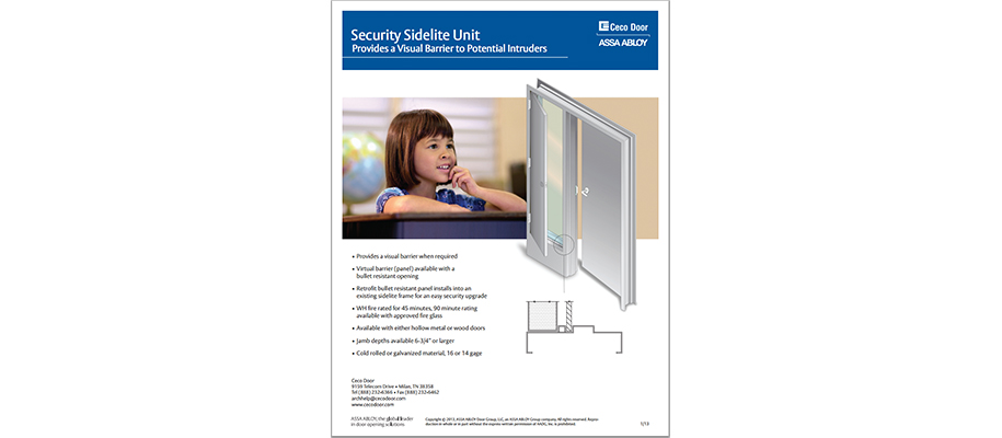 CECO Door Privacy SideLite