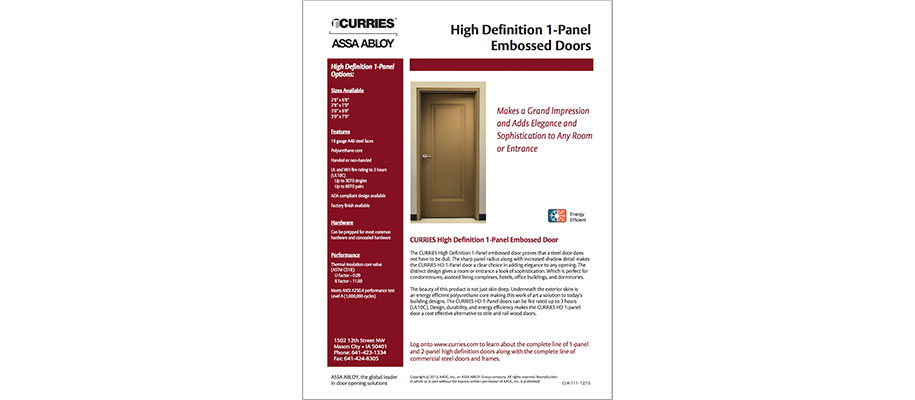 CURRIES High Definition Door
