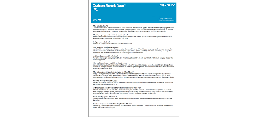 GRAHAM Sketch Door FAQ