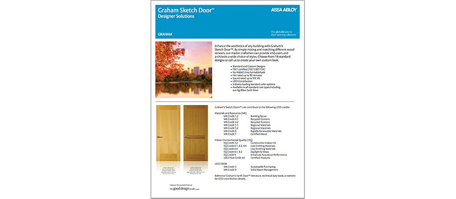 GRAHAM Sketch Door Info Sheet
