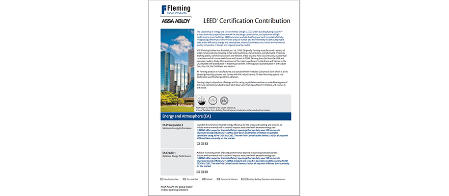 Fleming LEED Contribution