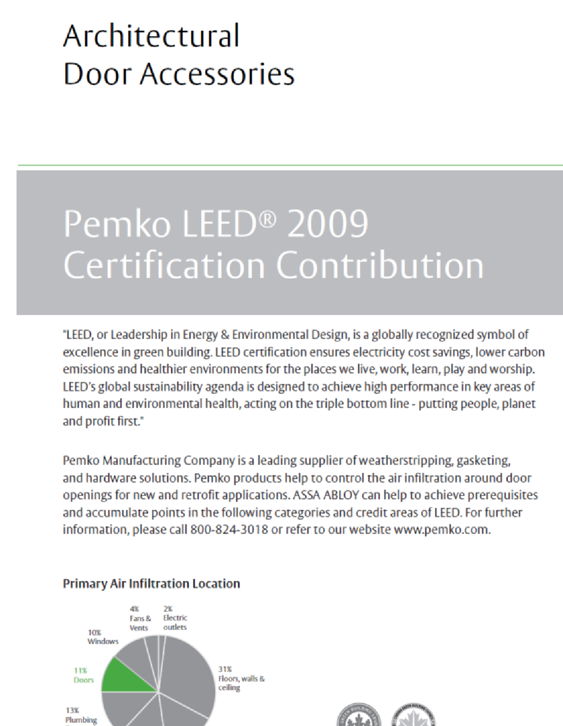 PEMKO LEED Certification Contribution