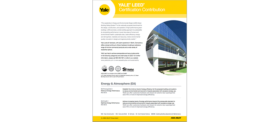 YALE LEED Certification Contribution
