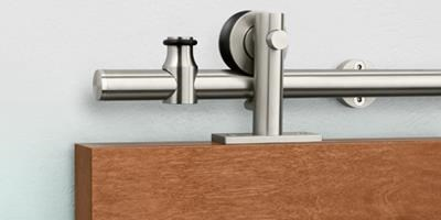 Stainless Steel Sliding Track Hardware Systems, Wood
